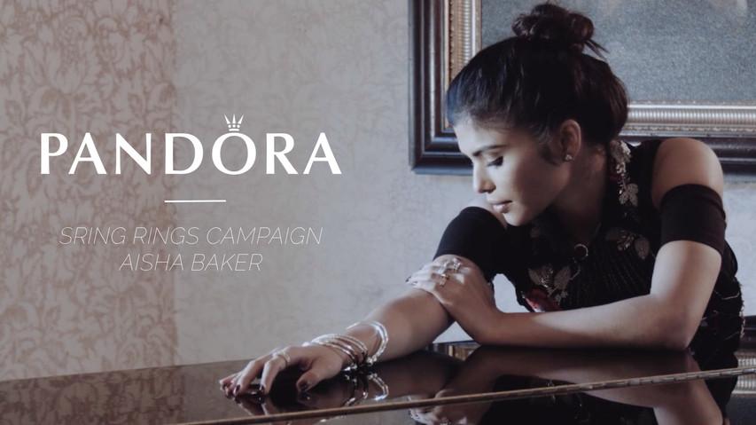 Aisha Baker for Pandora Spring Rings Campaign
