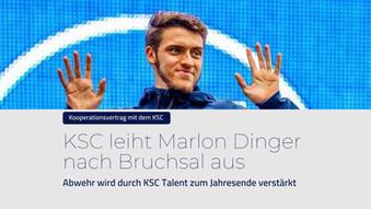 KSC leiht Dinger an den 1. FC Bruchsal aus