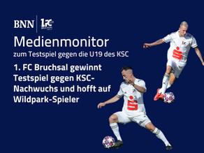 1. FC Bruchsal gewinnt Testspiel gegen KSC-Nachwuchs und hofft auf Wildpark-Spieler