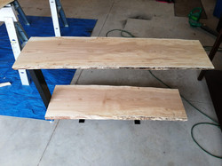 Live edge entry way table