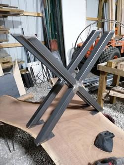 28 inch X steel tube legs