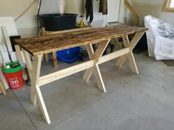 Custom patio table