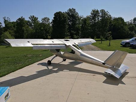 Prototype ultralight airplane
