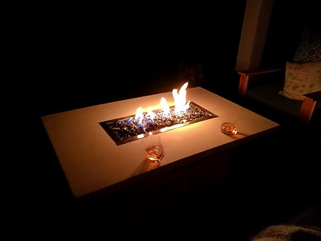 Custom concrete fire table