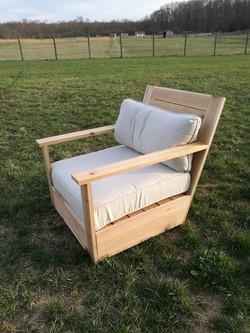 Custom cedar patio chair