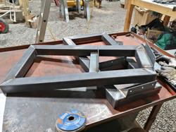 Steel TV stand legs