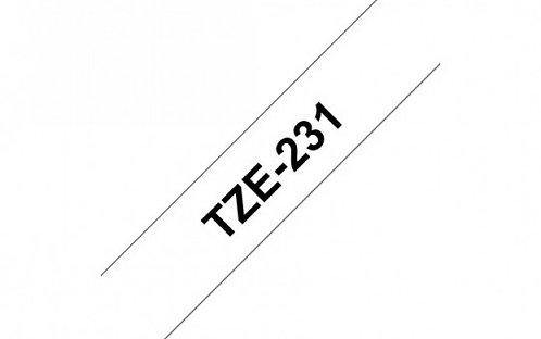 TZ-231 Brother סרט מקורי למכשירי תוויות
