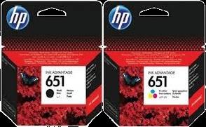HP C2P 11 A+C2P 10 A זוג ראשי דיו מקוריים