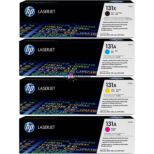 HP 131A - CF210x,CF211A,CF212A,CF213A סט 4 טונרים מקוריים