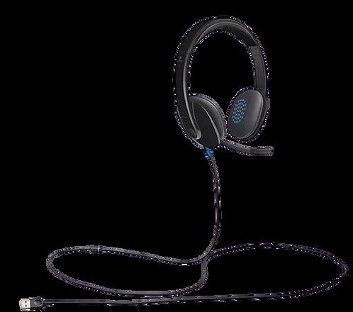 Logitech USB H540 אוזניות ומיקרופון