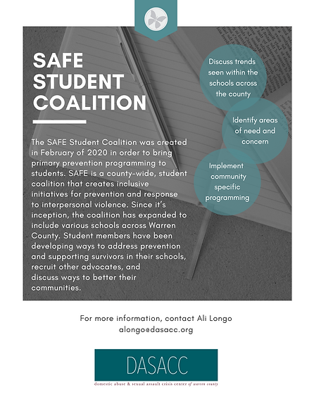 SAFE Student Coalition Flyer