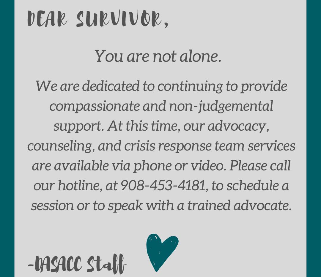 Dear Survivor...