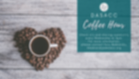 DASACC's Weekly Coffee Hour Flyer