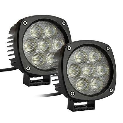 "RS-4CREE-35W-2 4.3"" Round Cree LED Spot Light (Pair)"