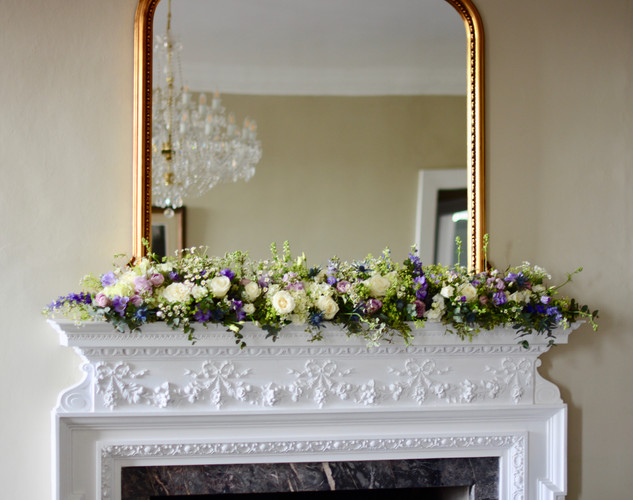 Mantlepiece Floral Runner