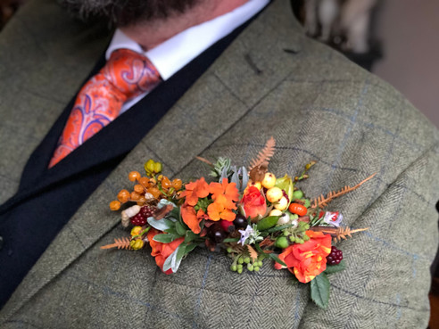 Autumn Flowers Pocket Square