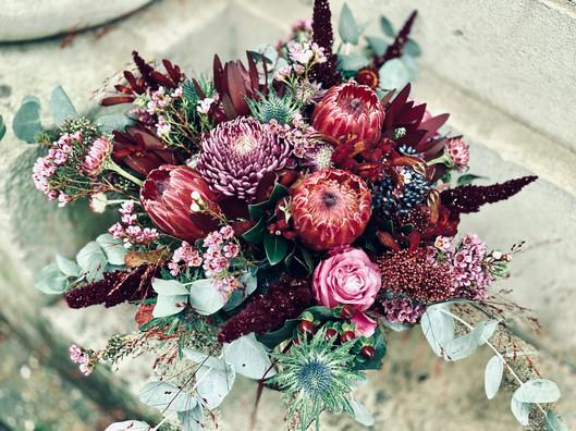 Moody Autumn Bridal Bouquet