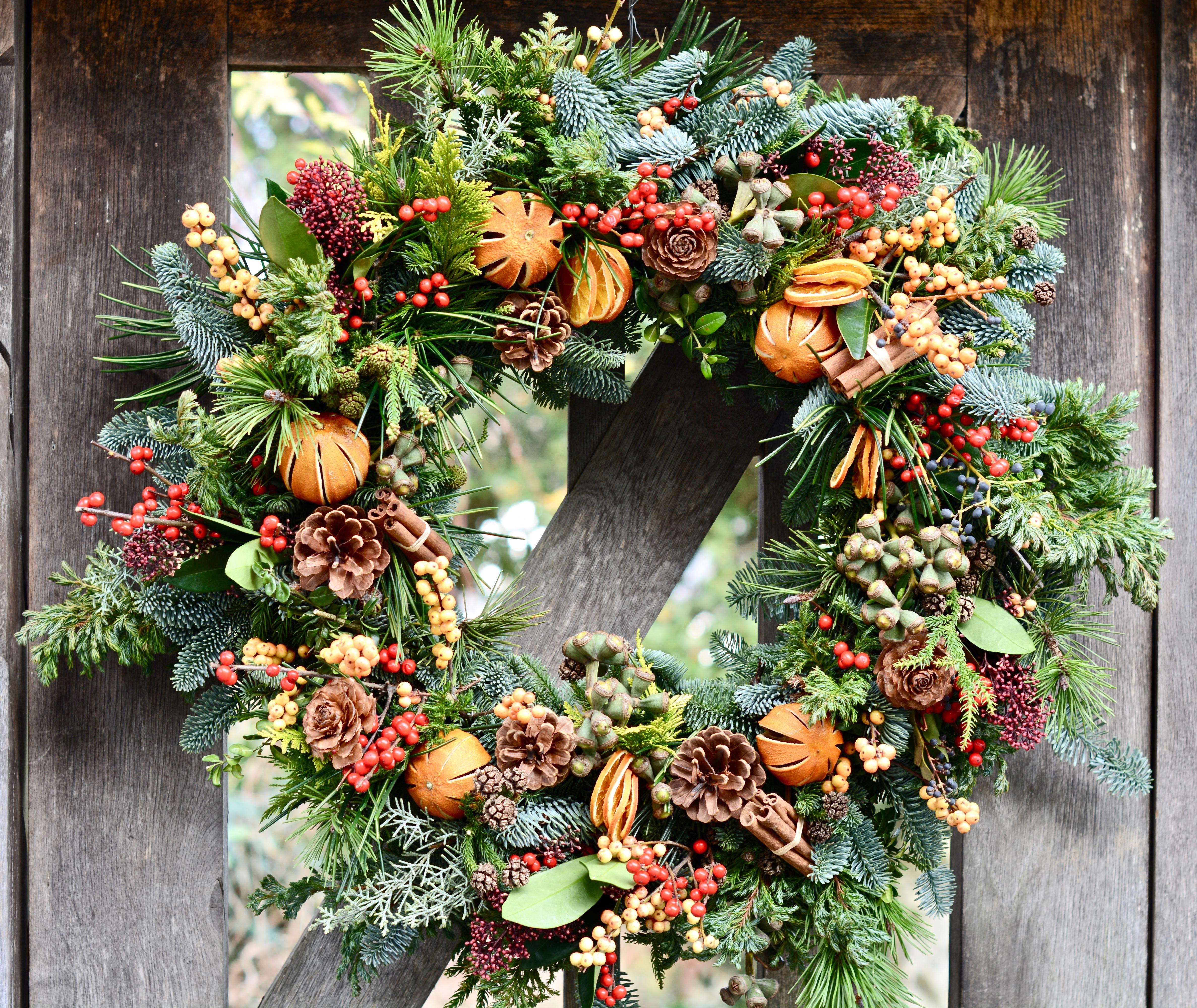 Festive Fruit Wreath