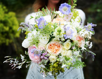 Bridal Bouquet of Mixed Pastel Flowers
