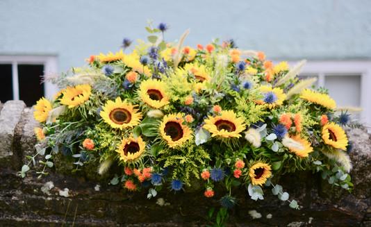 Sunflowers Coffin Spray