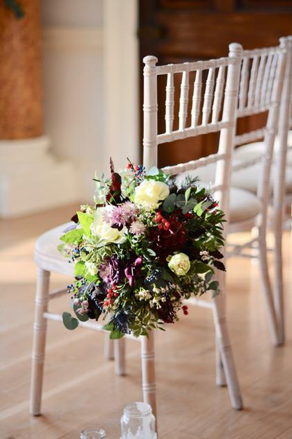 Aisle Pew Floral Arrangement