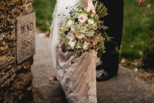 Textured Ivory and blush Bridal Bouquet