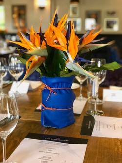 Strelitzia and Leather vase
