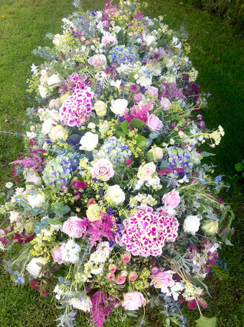 Cottage Garden Coffin Blanket