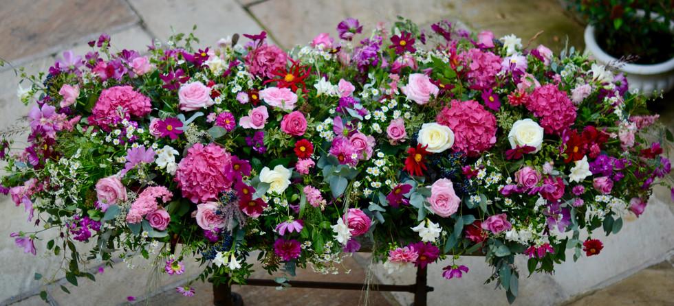 Floral Coffin Blanket