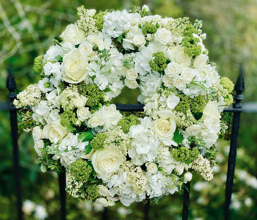 White and Green Tribute Wreath