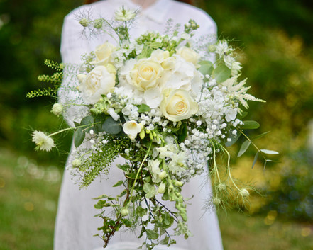 Ivory & Green Bridal Shower Bouquet