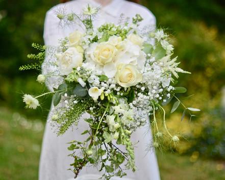 Ivory & Green Bridal Shower Bouquet