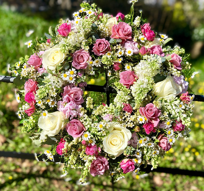 floral tribute wreath for a funeral