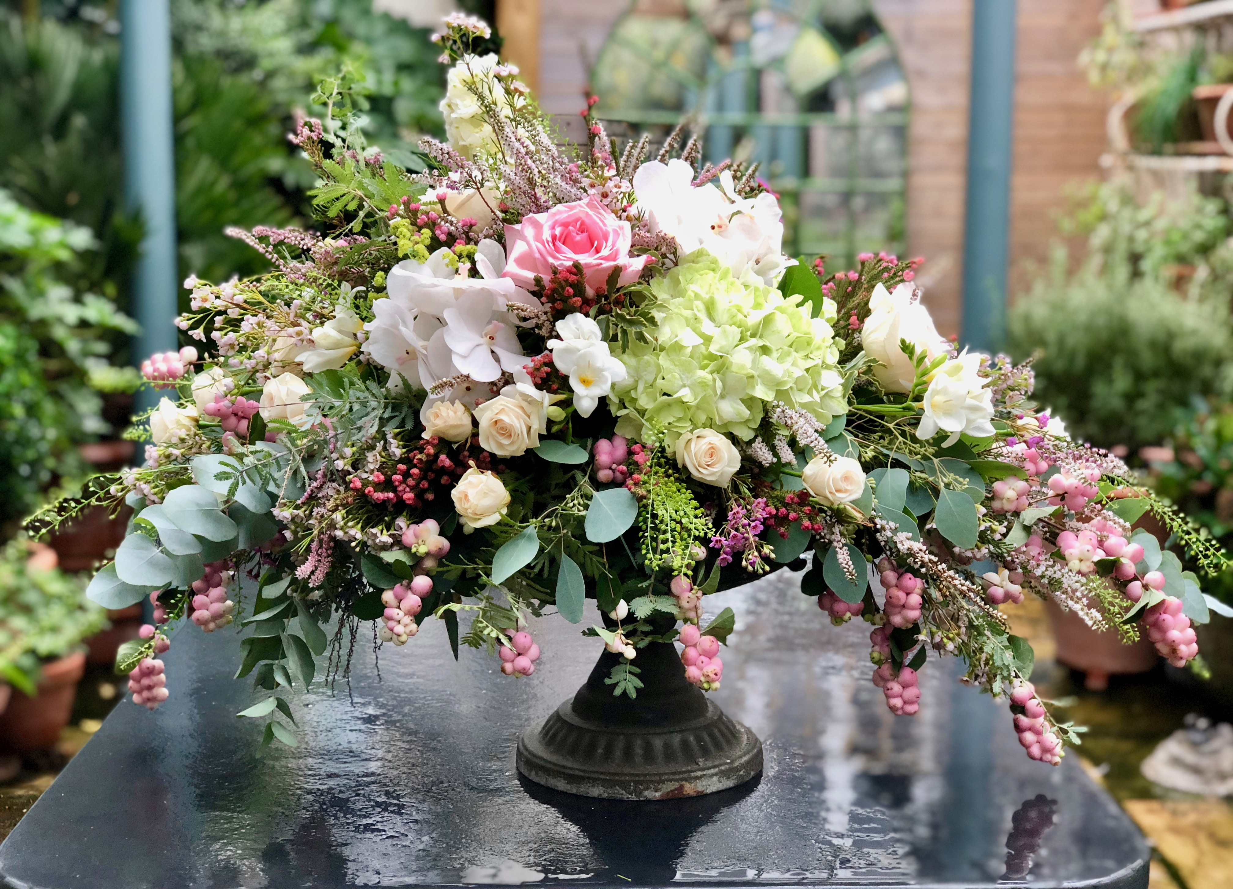 Classical Floral Urn Arrangement