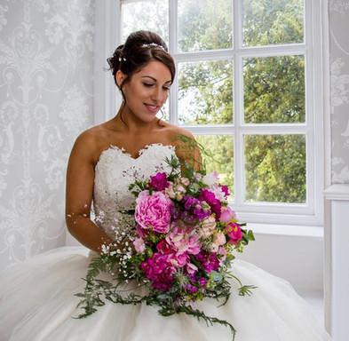 Asymetric Pink Bridal Bouquet