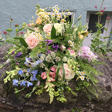 Funeral Tribute Sheaf of Garden Flowers