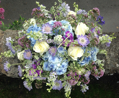 Cottage Garden Coffin Arrangement