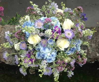 Cottage Garden Coffin Arrangement