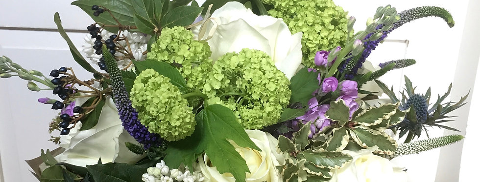The Eastgate Bouquet of neutral tonal flowers and foliage