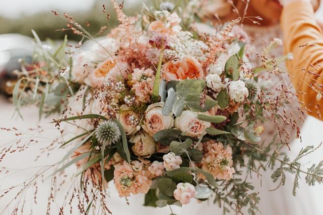 Autumn Peach Bridal Bouquet