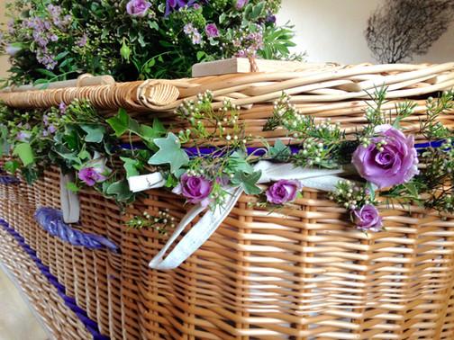 Coffin Garland of flowers