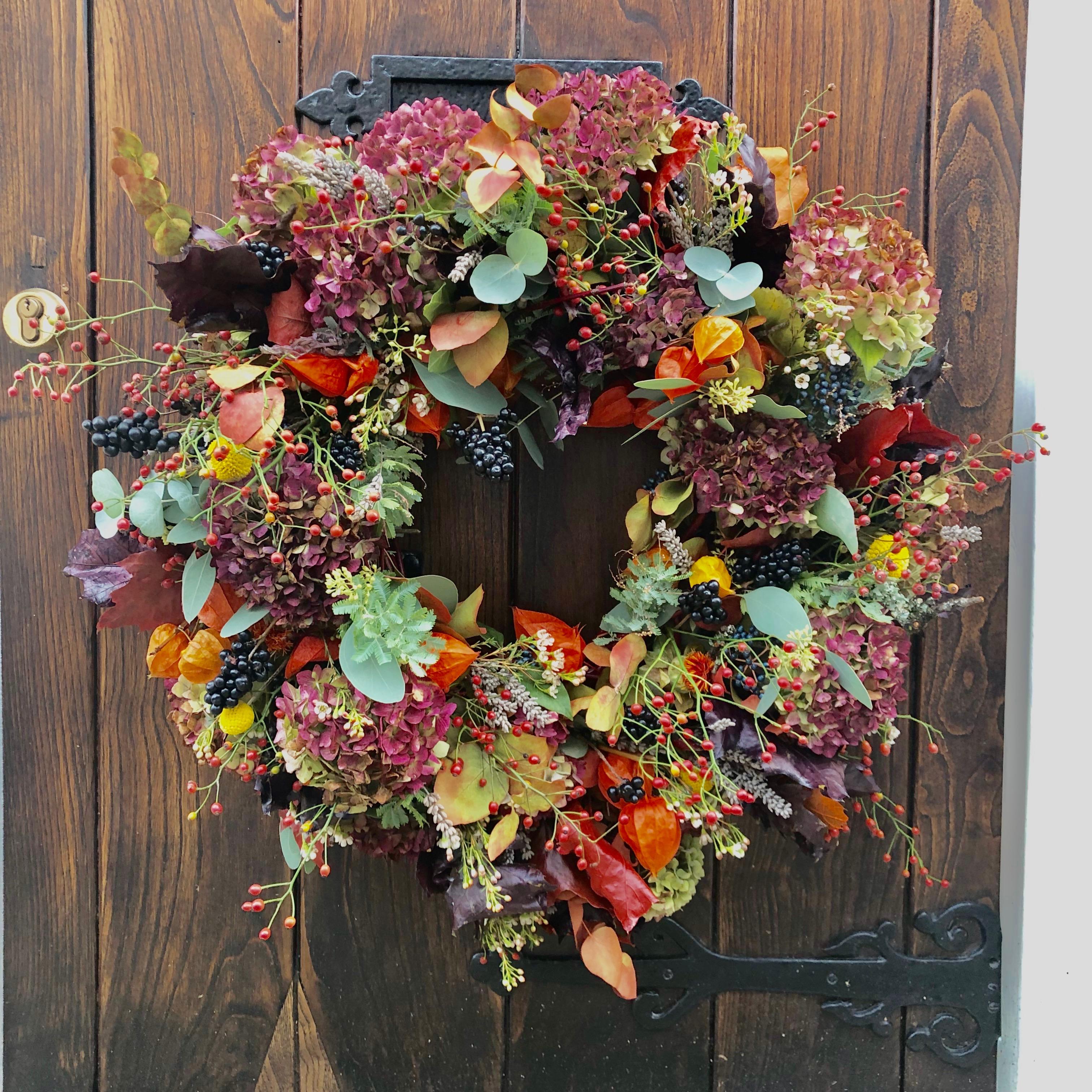 Winter Sunset Festive Wreath