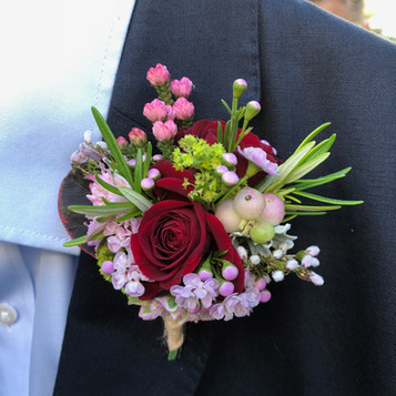 Pink & Red Buttonhole