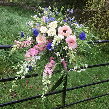 Funeral Tribute Meadow Sheaf of Flowers
