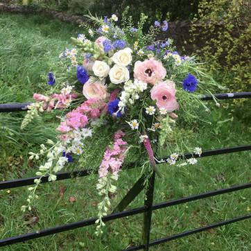Funeral Tribute Meadow Sheaf of Flowers