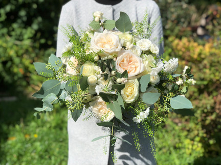 Ivory & Green Bridal Bouquet