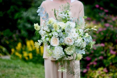 Summer White & Green Bridal Bouquet