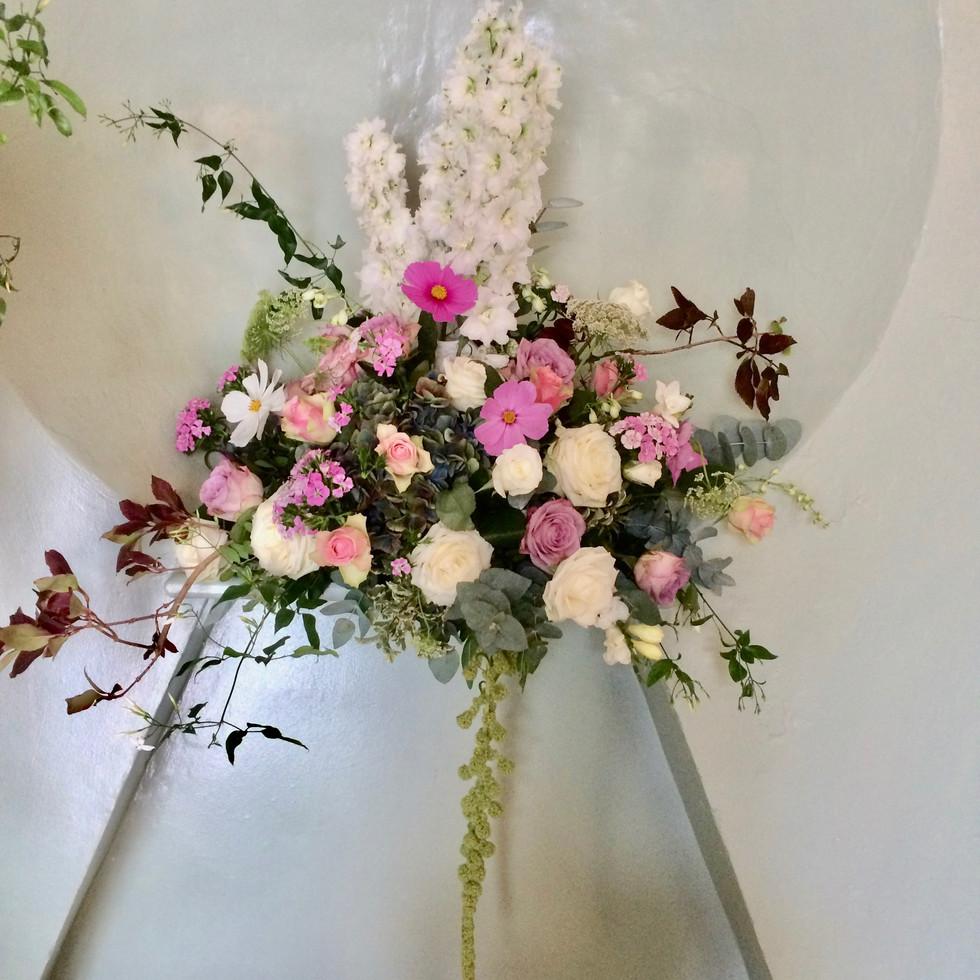 Floral Shelf Arrangement