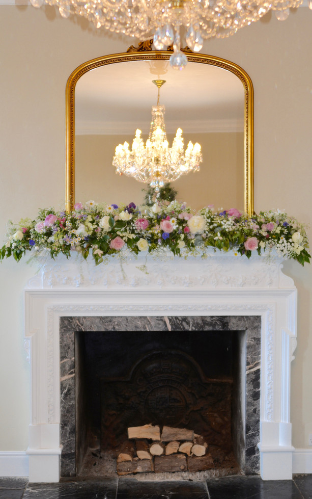 Classical Mantlepiece Floral Arrangement