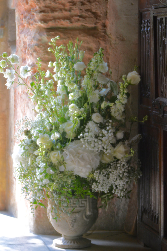 Classical White and Green Flowers Arrangement
